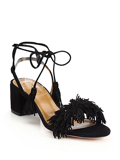 Aquazzura Fringe Glove Sandals hot sale cheap price 3gursBp