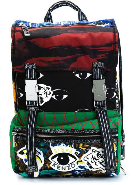 KENZO Crazy Print Nylon Backpack, Multi