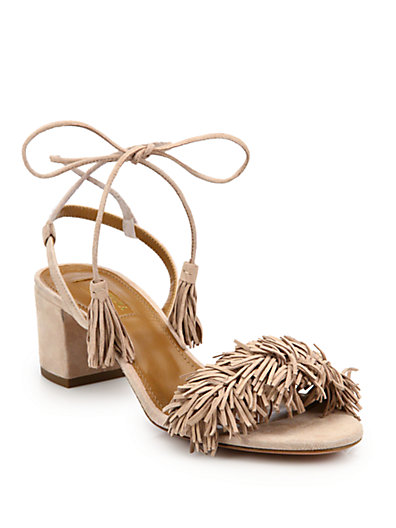 AQUAZZURA Exclusive To Mytheresa.Com – Wild Thing 50 Suede Sandals, Vintage  Pink