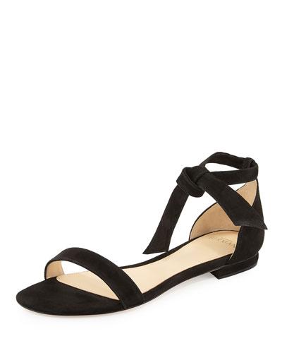 Alexandre Birman Suede Ankle-Tie Sandals