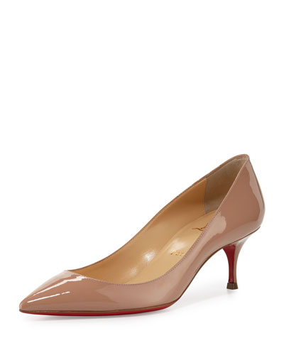 45207f3a12c CHRISTIAN LOUBOUTIN Pigalle Follies 55Mm Patent Red Sole Pump ...