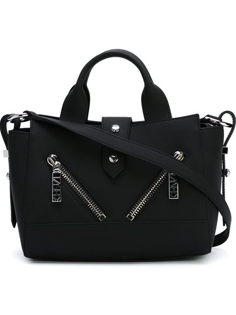 Mini Kalifornia Leather Shoulder Bag - Black from yoox.com