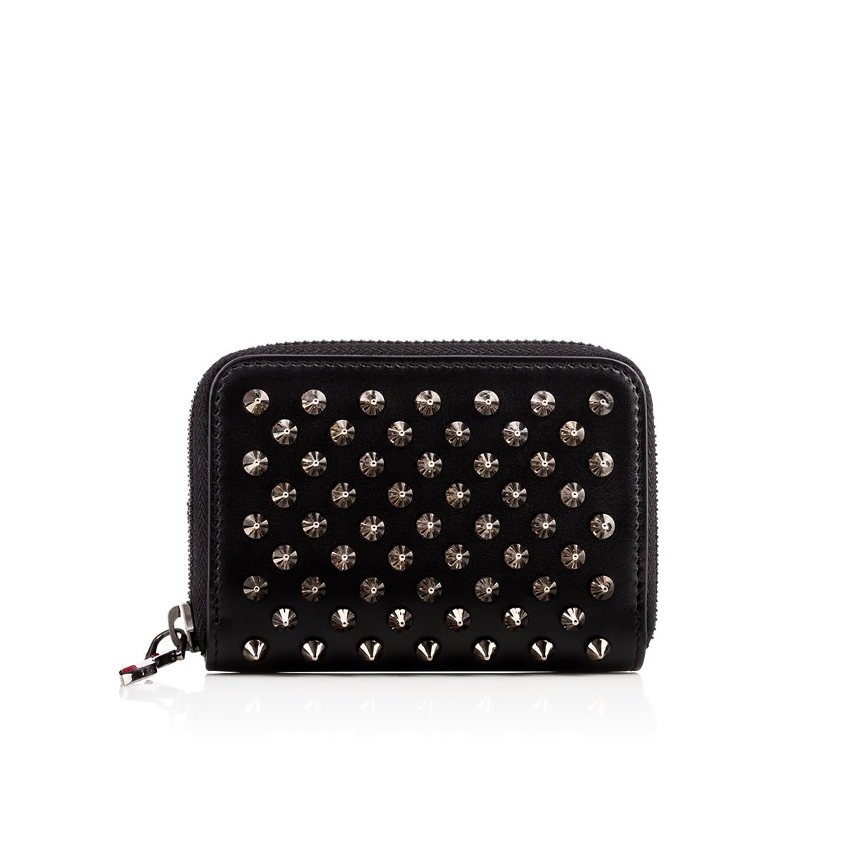 Panettone Spike-Embellished Leather Coin Purse, Black