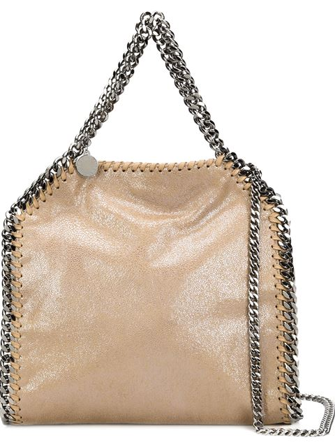 Mini Falabella Shaggy Deer Tote Bag in Neutrals