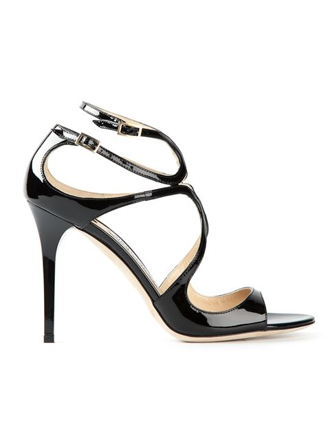 Women'S Lang 100 Patent Leather High-Heel Sandals in Black