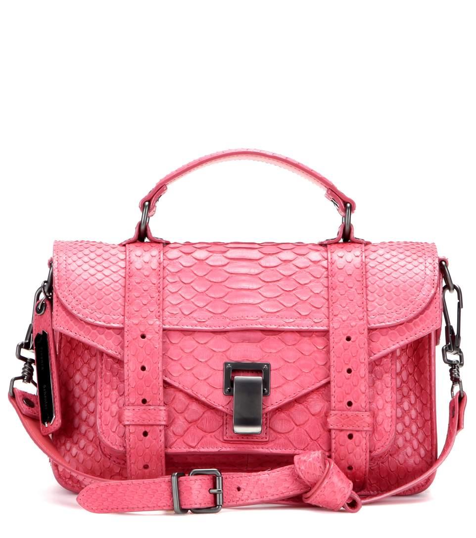 Proenza Schouler Ps1 Tiny Snakeskin Shoulder Bag   ModeSens 2a5ab9cb39