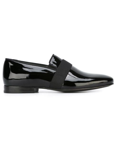 Patent Leather Venetian Loafers, Black