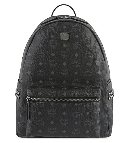 MCM Medium Stark Backpack, Black