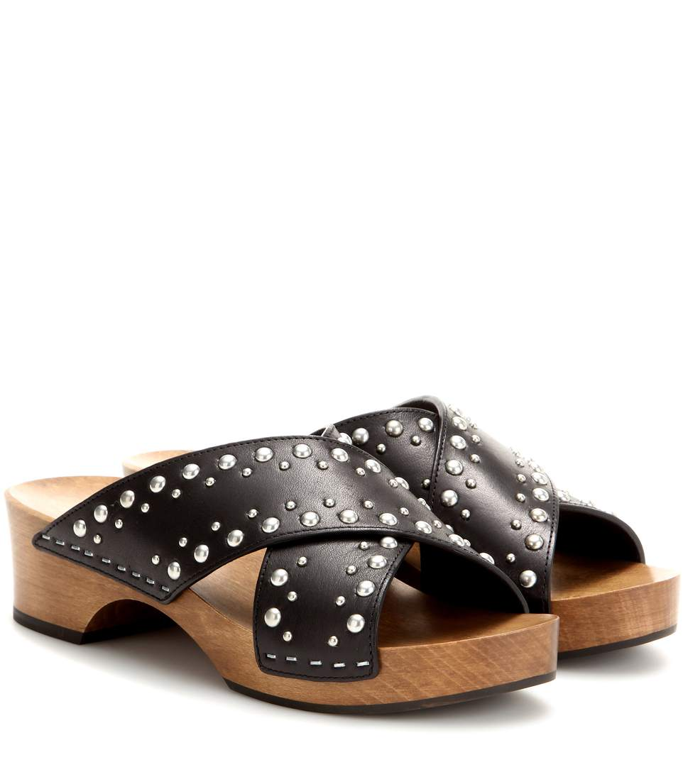 Saint Laurent Sabot Studded Clogs Free Shipping Best Seller Outlet Shop Offer Low Price Low Shipping Cheap Price Cheap Sale Low Shipping Fee dJg9Tl9w0
