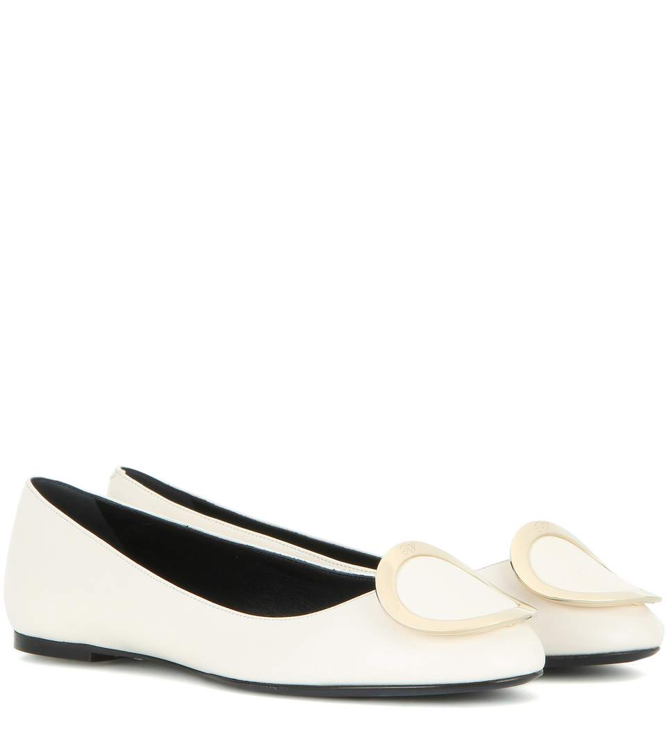 Roger Vivier Leather Round-toe Flats Online Shop obdQNJtY