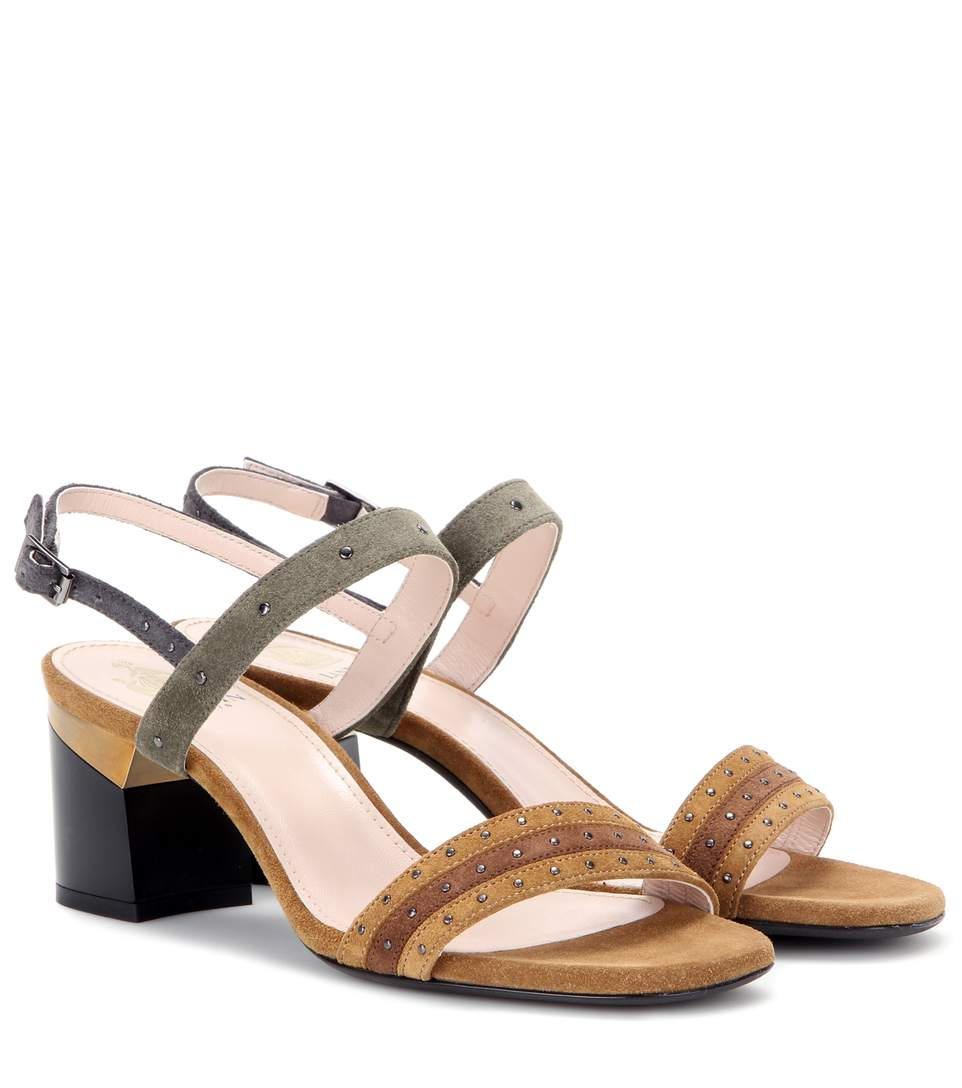 discount largest supplier best wholesale cheap online Lanvin Suede Studded Sandals eastbay sale online 100% guaranteed for sale ei8u2RGrr