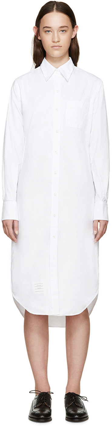 White Classic Shirt Dress