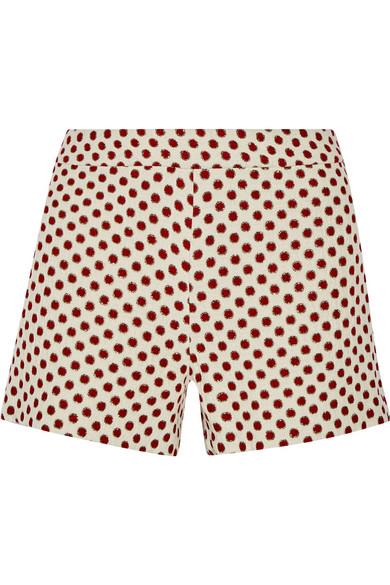 Woman Marisa Jacquard Shorts Red