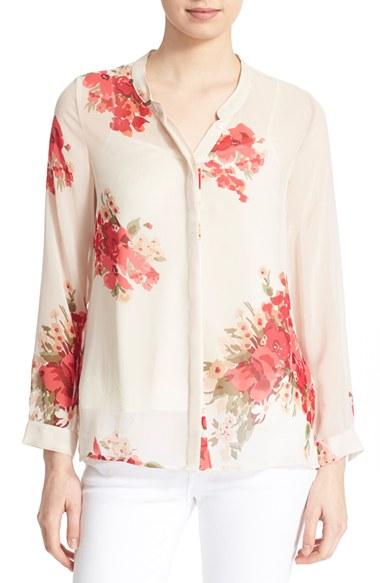 JOIE 'Devitri' Silk Shirt, New Moon