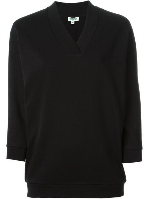 Paris Cotton-Jersey Sweatshirt, Black
