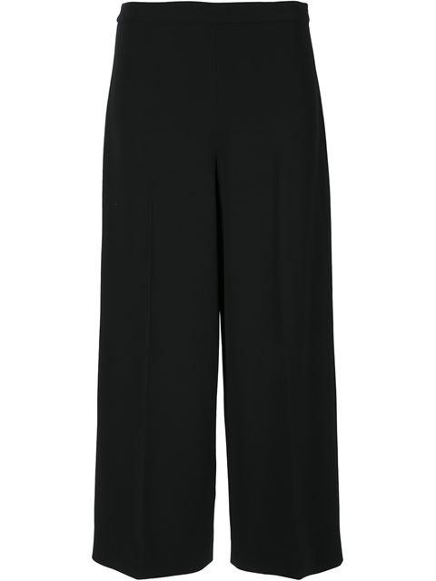 NARCISO RODRIGUEZ Wool Cady Wide-Leg Pants - Black Size 44 It
