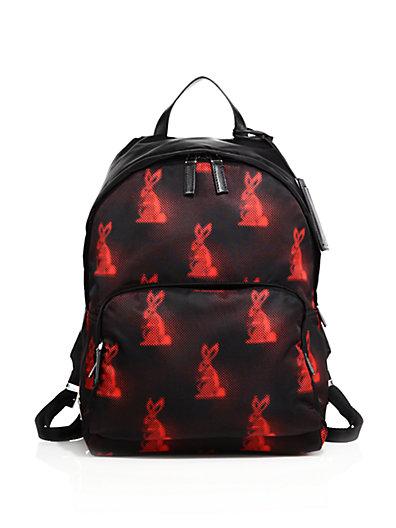 a060ddb92080 Prada Men S Digital Bunny-Print Nylon Backpack