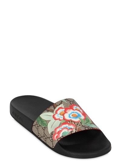 a347f186204 GUCCI 20Mm Pursuit Gg Supreme Slide Sandals