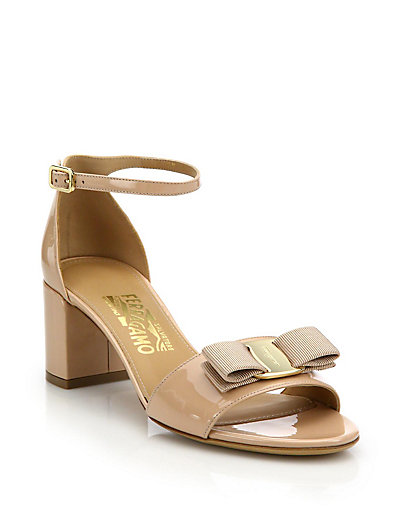Salvatore Ferragamo Gavina patent leather sandals jcnKIOxM