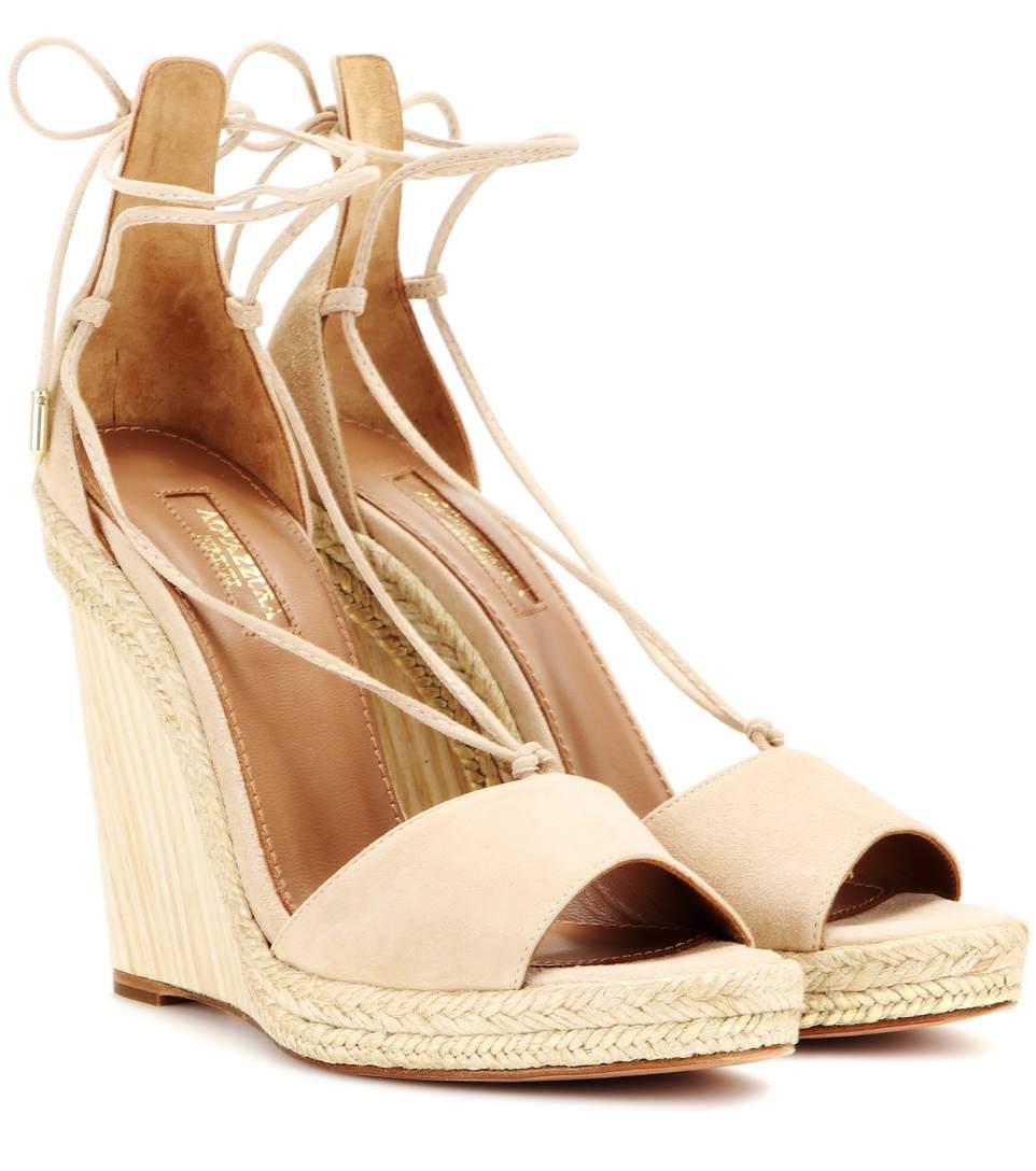 Aquazzura Alexa Wedge Sandals Cheap Sale Find Great LJEkfFhZgZ