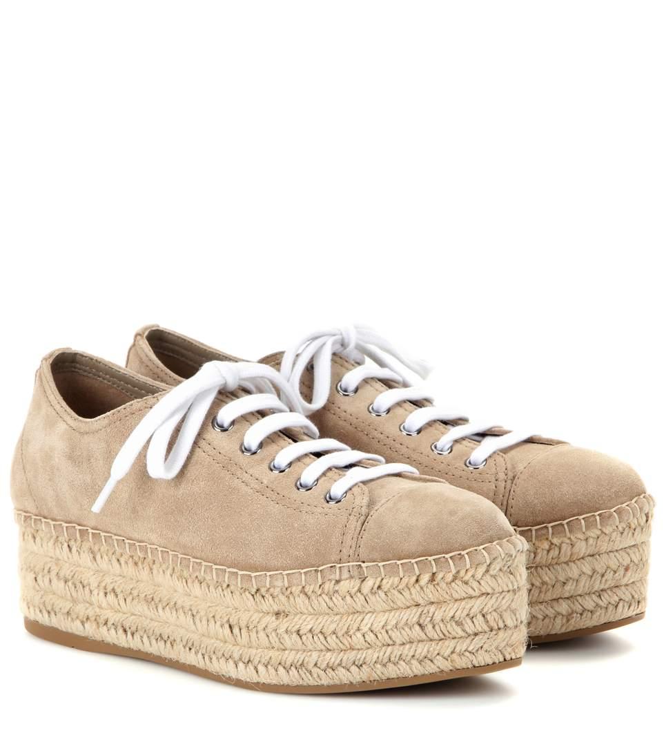 Suede espadrille-style platform sneakers Miu Miu JcjSnCb3n