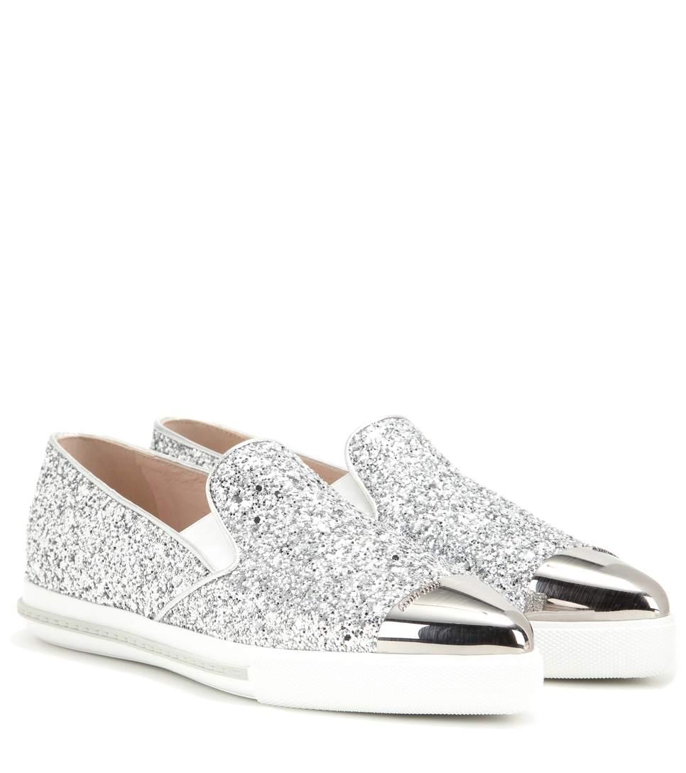 Miu Miu Glitter Cap-Toe Sneakers free shipping 100% original clearance classic mtpZ3BcW