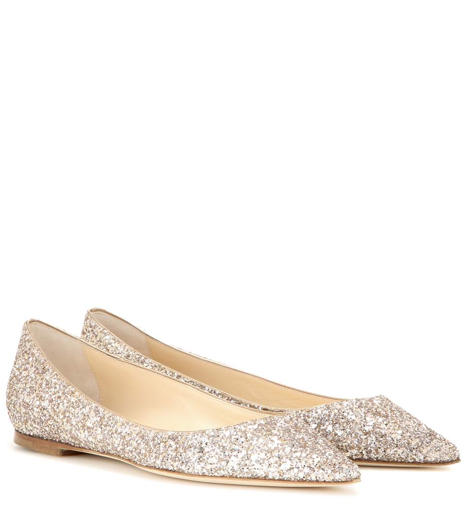 clearance prices buy cheap footlocker Jimmy Choo Metallic Suede Flats order sale online buy cheap 2014 pEJ1K