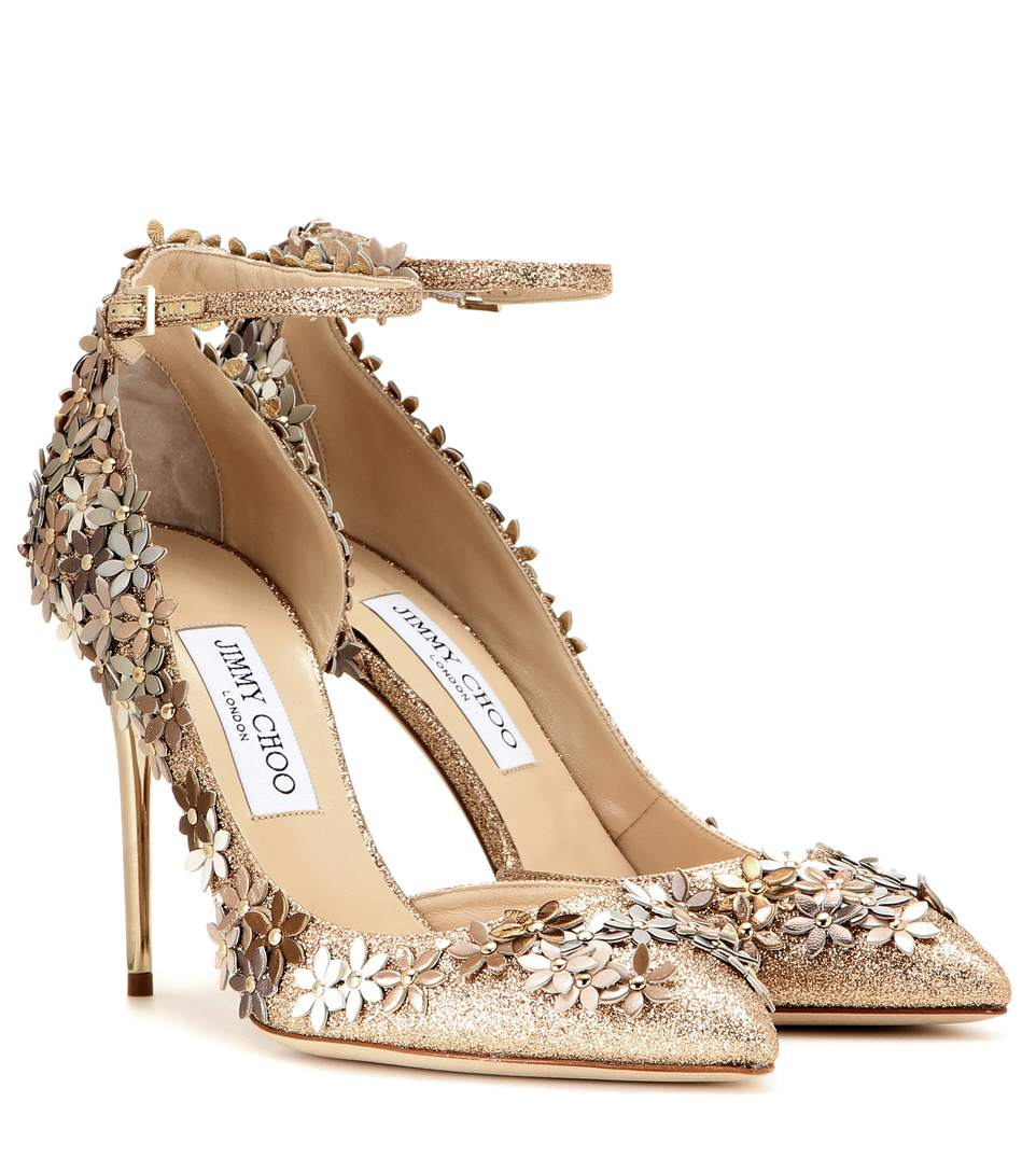 Jimmy Choo Floral Leather Sandals Super Specials Visit Cheap Countdown Package Discount 2018 New M21vNOWdvR
