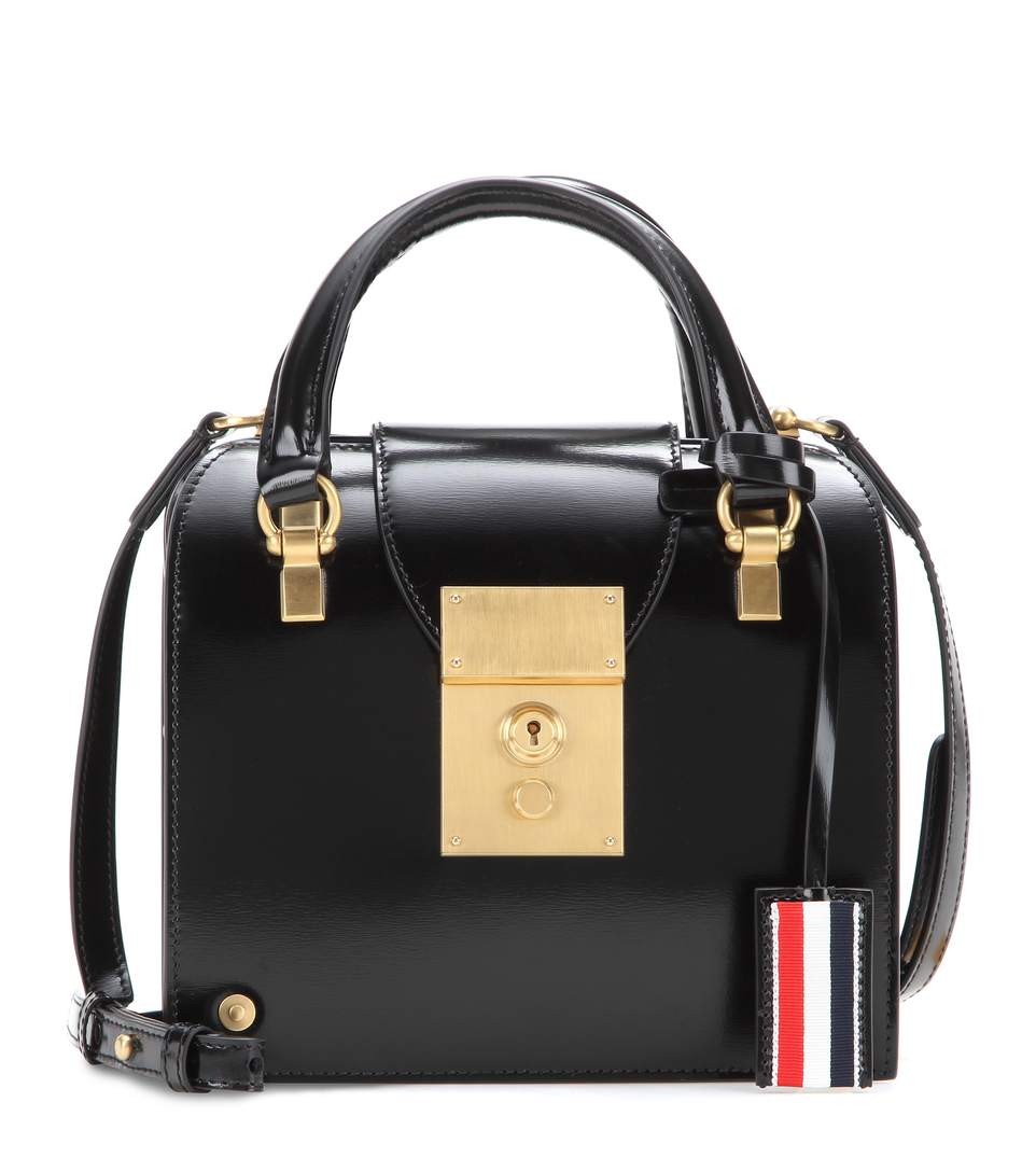 Mrs. Thom Tiny With Chain Shoulder Strap in Black