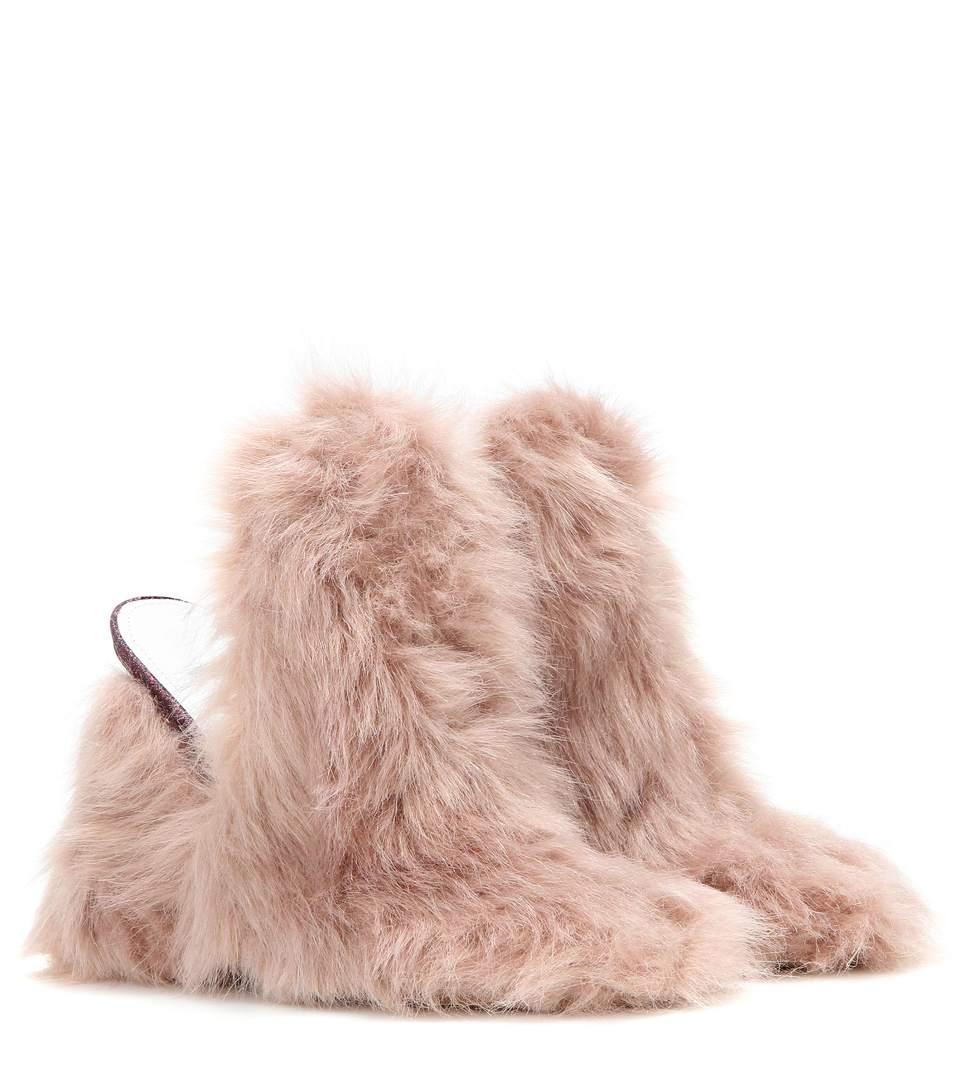 Maison Margiela faux-fur slip-on mules best store to get sale online really sale online sale factory outlet OYkLG