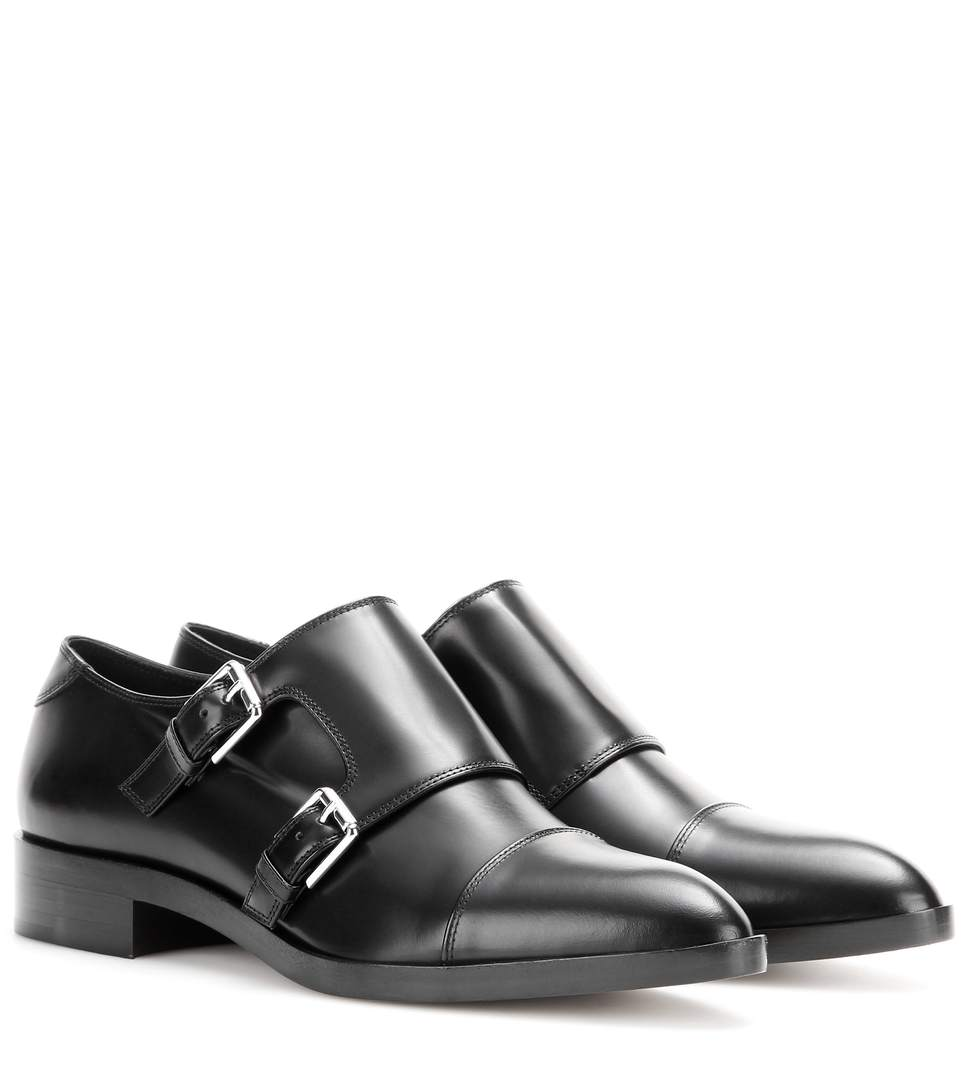 Gianvito Rossi Monk Strap Leather Loafers