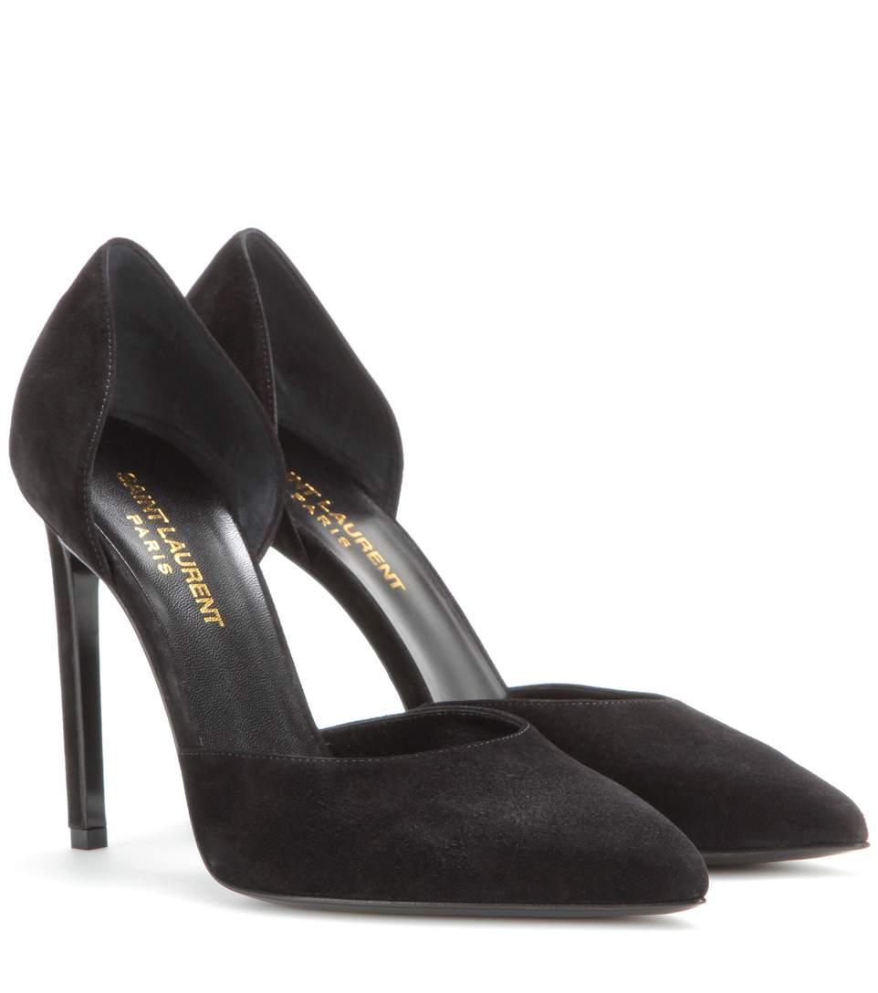 Saint Laurent Suede D'Orsay Heels