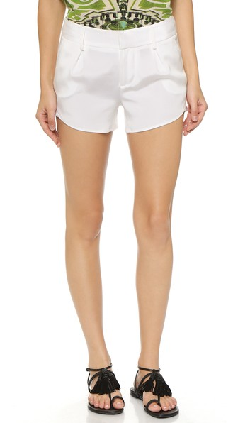 Alice+Olivia High-Waisted Shorts - White