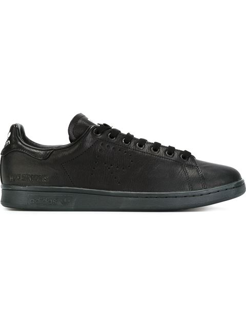 ADIDAS BY RAF SIMONS Raf Simons For Adidas Women'S Stan Smith Leather Lace Up Sneakers, Black