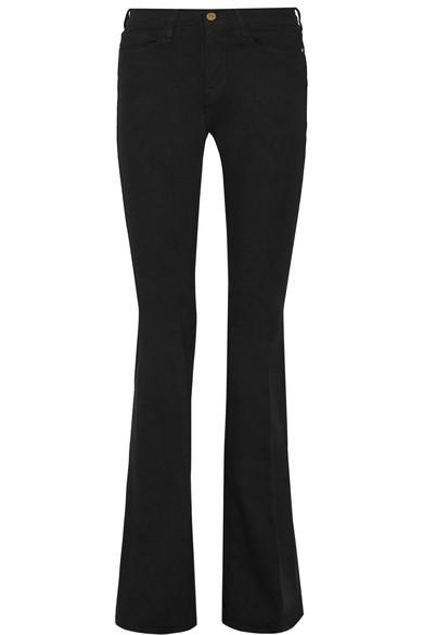 Frame Le Forever Karlie Supermodel Length Flared Jeans In Noir ...