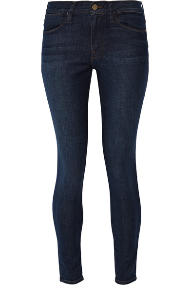'Le High Skinny' High Rise Jeans (Valley View) (Nordstrom Exclusive) in Dark Denim