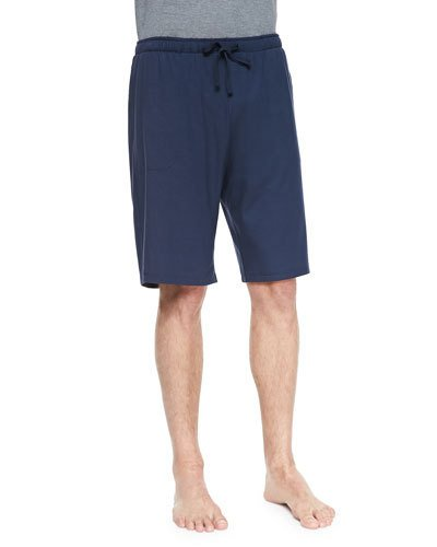 Derek Rose - Basel Jersey Shorts - Mens - Denim in Navy