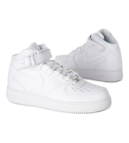 NIKE Men'S Air Force 1 Mid Casual Shoes, White