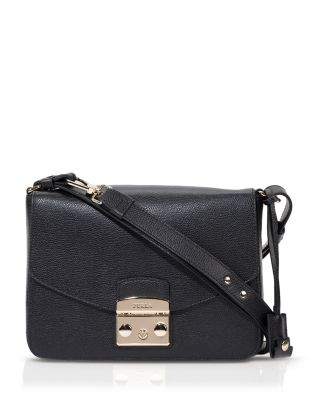 Metropolis Small Crossbody Bag In Cedro Ares Leather in Pink
