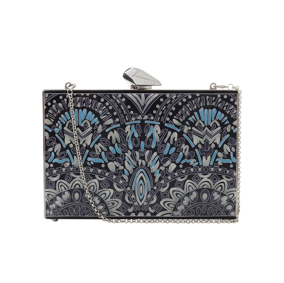 KOTUR Empire Merrick Clutch in Purple