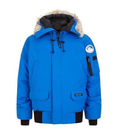 Chilliwack Fur Hood Bomber Jacket, Blue