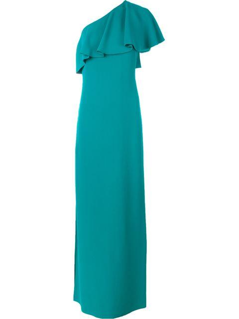 One Shoulder Evening Dress, Blue