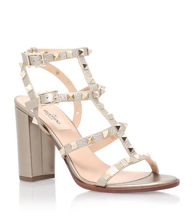 Valentino Garavani Rockstud metallic leather sandals C0L5Kpo