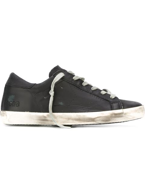 Golden Goose Deluxe Brand - Super Star Low Top Leather Trainers - Womens - Black