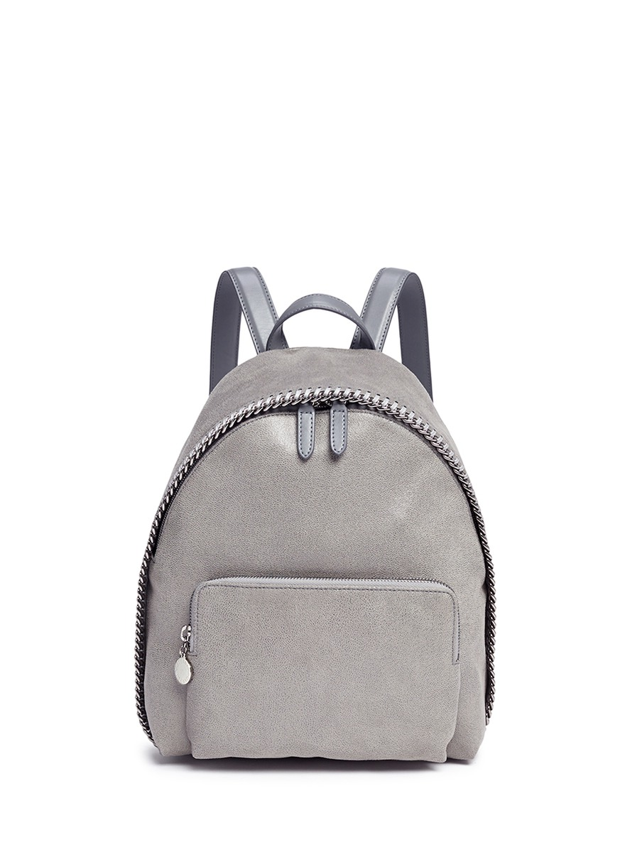 'Falabella' Small Shaggy Deer Backpack, Light Grey