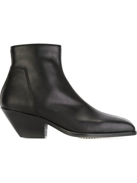 Rick Owens Black Square Toe Boots 2dvuBs