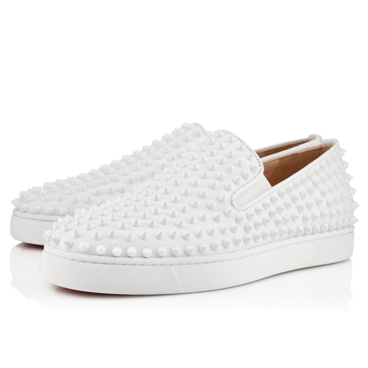 Christian Louboutin Roller Embellished Slip-On Sneakers