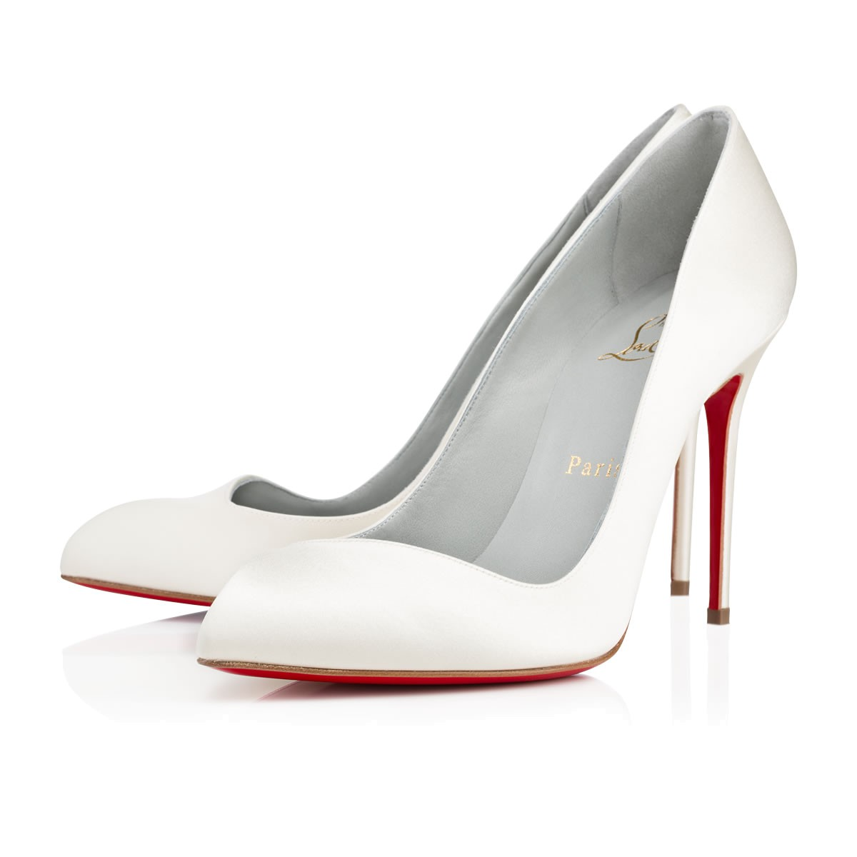 Decoltish 85 Patent-Leather Pumps, Off White
