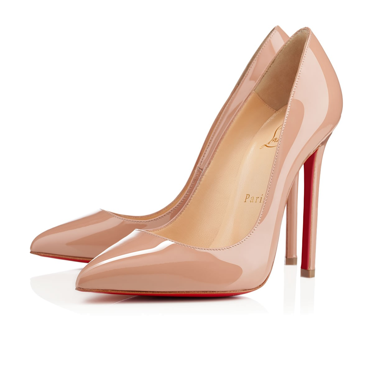 Pigalle Follies 100 Beige Patent Leather Pump, Nude