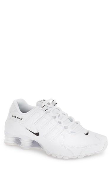 Nike  Shox Nz Eu  Running Shoe (Men) In White  Black  White  9bb9dbc64